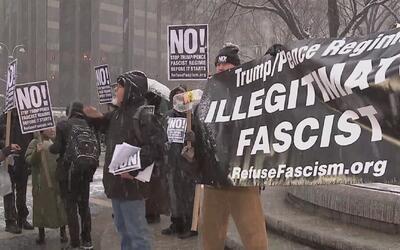 Vuelven las manifestaciones a Manhattan en contra de Donald Trump