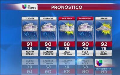 Calor, sol, bruma y poca lluvia para Puerto Rico