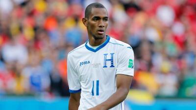 Jerry Bengtson con la selección de Honduras en el Mundial Brasil 2014