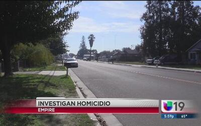 Investigan homicidio de joven en Modesto