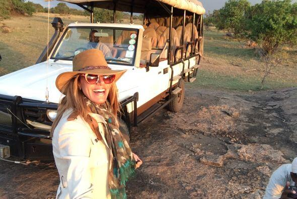 Este safari era uno de los grandes sueños por cumplir de la querida cond...