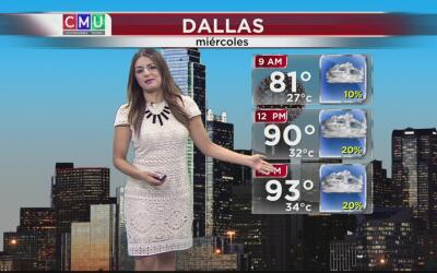 Dallas tendrá un miércoles caluroso y ligeramente nublado