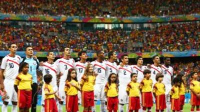 Costa Rica llegó hasta los cuartos de final de Brasil.