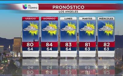 El clima en Los Ángeles para el feriado