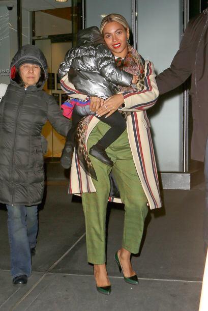 Beyoncé tras la fiesta de cumpleaños de su adorada Blue Iv...