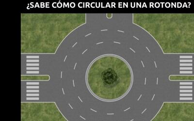 Circular en una rotonda