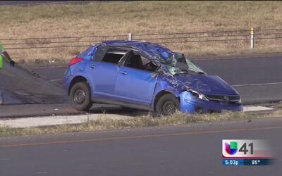 Un accidente de tráfico provoca el cierre de la carretera 1604 al oeste...