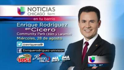 Noticias Univision Chicago ¡En Vivo desde Cicero!