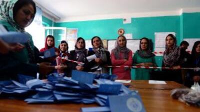 Elecciones presidenciales enAfganistán.