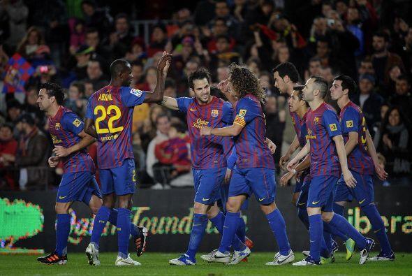 El Camp Nou era una fiesta total. Goles y buen fútbol por parte d...