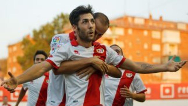 Alberto Perea hizo uno de los tantos para el triunfo del Rayo.