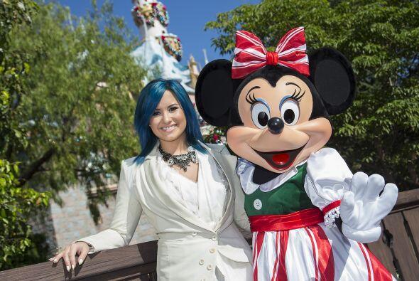 Demi Lovato fue a Disney a grabar un programa y por supuesto, aprovech&o...
