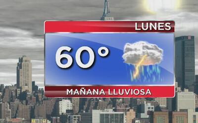 Lluvia y posibilidad de tormentas eléctricas para este lunes en Nueva York