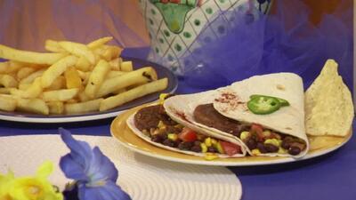 Hamburguesas de vegetales con acento latino
