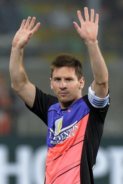 'La Pulga' correspondió con el primer gol del partido.
