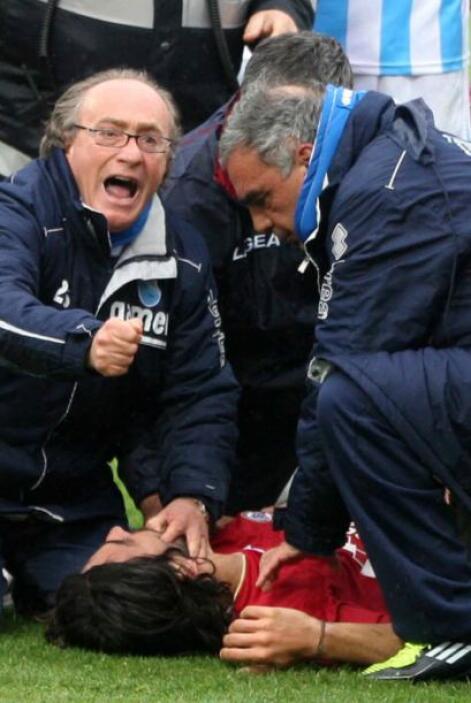 Morosini sufrió una crisis cardíaca y los doctores le practicaron un mas...