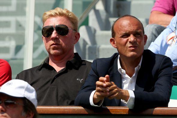 El legendario tenista alemán Boris Becker, ahora entrenador de Novak Djo...