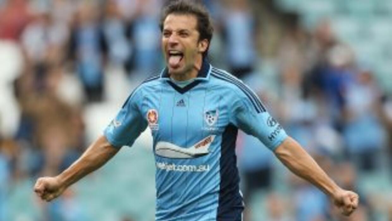 Del Piero celebra su cuarto gol ante Wellington.