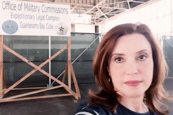 Otro ángulo de la prisión con la reportera Lourdes Del Río.