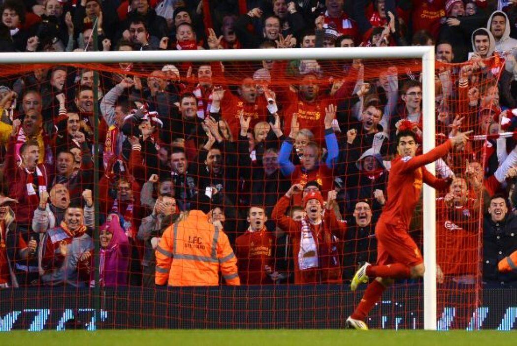 Buen partido de Luis Suárez en el triunfo de Liverpool sobre Wigan.