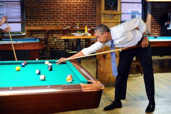 Aunque destacó que Obama bebiera cerveza y luego jugara billar.