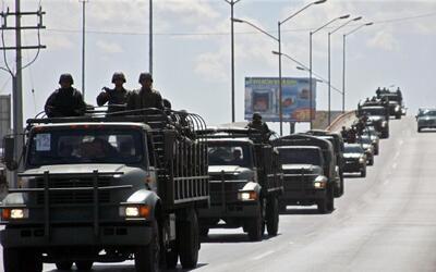 Ofensiva militar contra el crimen organizado (Imagen de archivo)