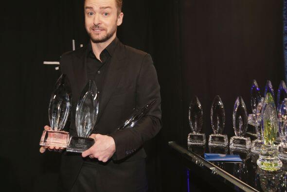 Otro triunfador de la noche, Justin Timberlake.