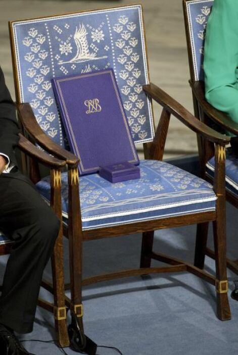 Al inicio de la ceremonia el presidente de la Fundación Nobel, Marcus St...