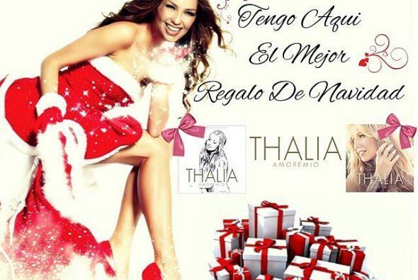 Thalía no perdió el tiempo en dar opciones para los regalos de navidad.