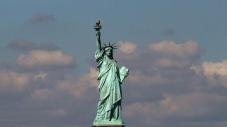 La Estatua de la Libertad, símbolo de la inmigración en Estados Unidos.