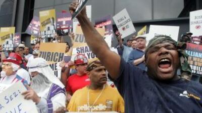Asociaciones de obreros afectados por los ataques del 9/11 se mostraron...