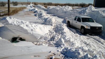 En Nuevo México la nieve lo cubre todo