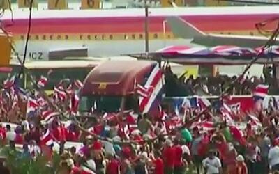 La Selección Costarricense es recibida con vítores en San José