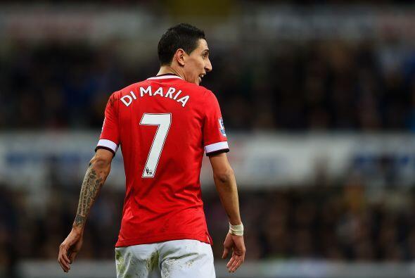 Los jugadores del Manchester United, Radamel Falcao y Ángel di Ma...