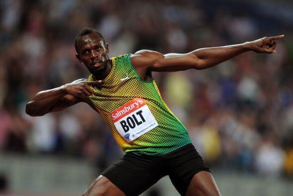 Entre los tres primeros se encuentra el velocista, Usain Bolt.