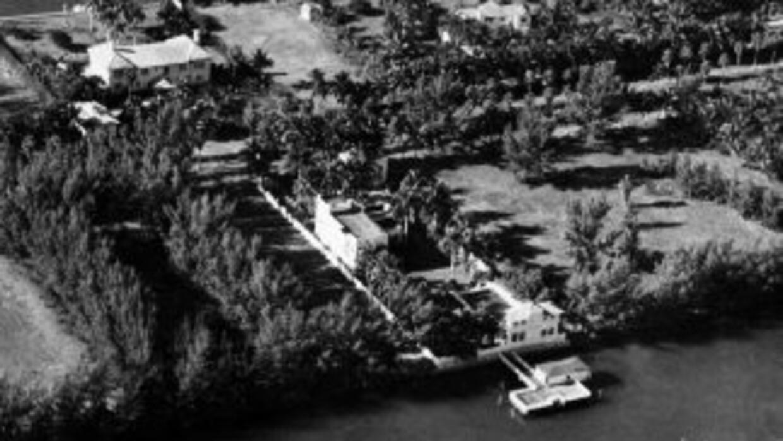 Vista aérea muestra cómo lucía la mansión de Al Capone enPalm Island, M...