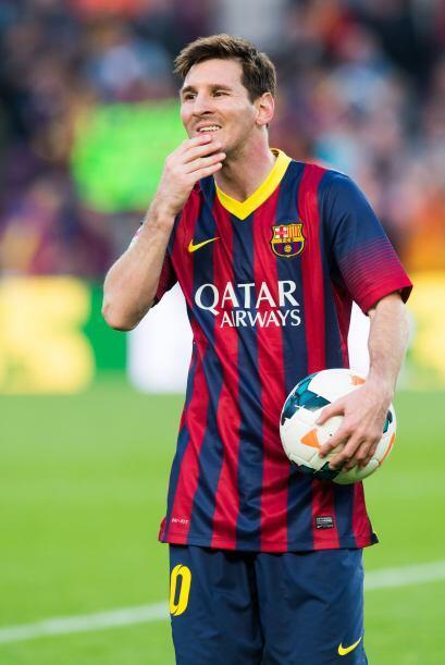 Es el cuarto año en el que Messi encabeza la lista de jugadores c...