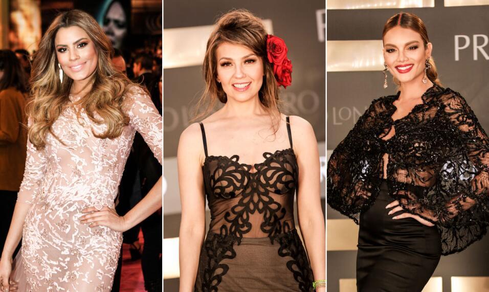 Puras curvas, escotes y vestidos ceñidos con las famosas más bellas de l...