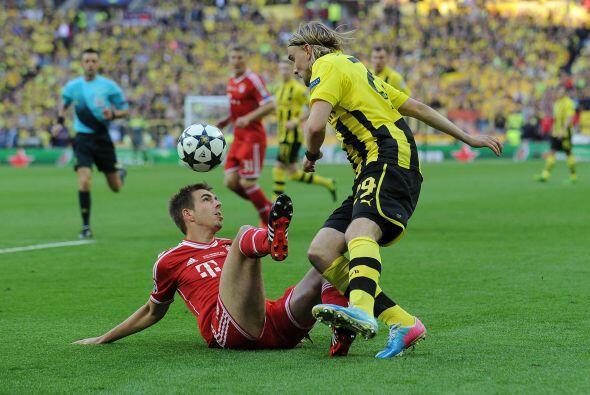 El Bayern tuvo que redoblarse en la defensa.