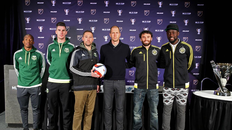 Nagbe, Ridgewell, Porter, Berhalter, Parkhurs y Kamara, previo a la MLS Cup