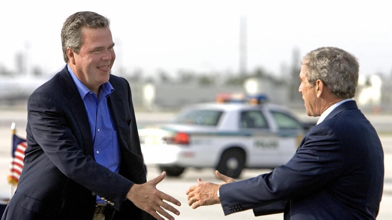 Los hermanos Bush en una foto de 2006