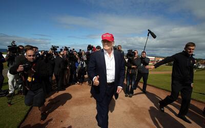 Donald Trump en Turnberry, Escocia, el 30 de julio de 2015.
