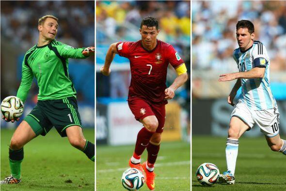 Los finalistas son Manuel Neuer de Alemania y el Bayern Munich, Cristian...