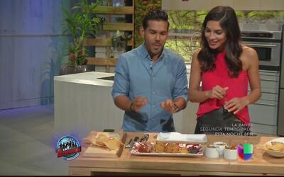 Alejandra Espinoza se somete a la prueba de comida boricua