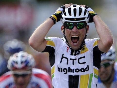 El británico Mark Cavendish del equipo HTC ganó la s&eacut...