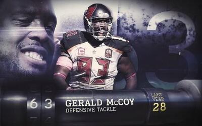 Top 100 Jugadores de 2016: (Lugar 63) DT Gerald McCoy