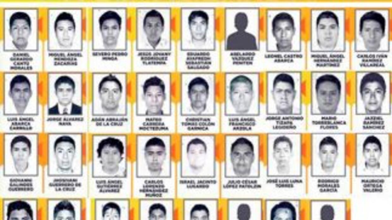 Los 43 desaparecidos de Ayotzinapa, Guerrero.