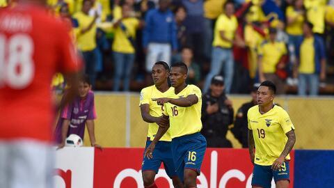Ecuador pasó por encima del cuadro chileno.