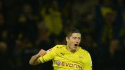 Robert Lewandowski hizo un Hat-Trick contra el Stuttgart.