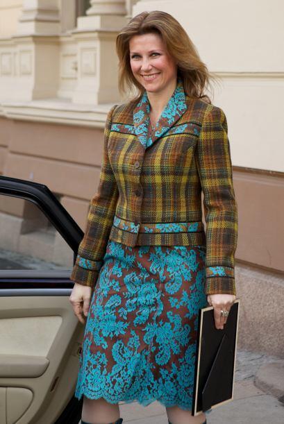 La princesa de Noruega, Martha Louise, también usa la tendencia t...